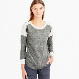 J Crew Colorblock Burnout T-shirt, Gray/cream, L